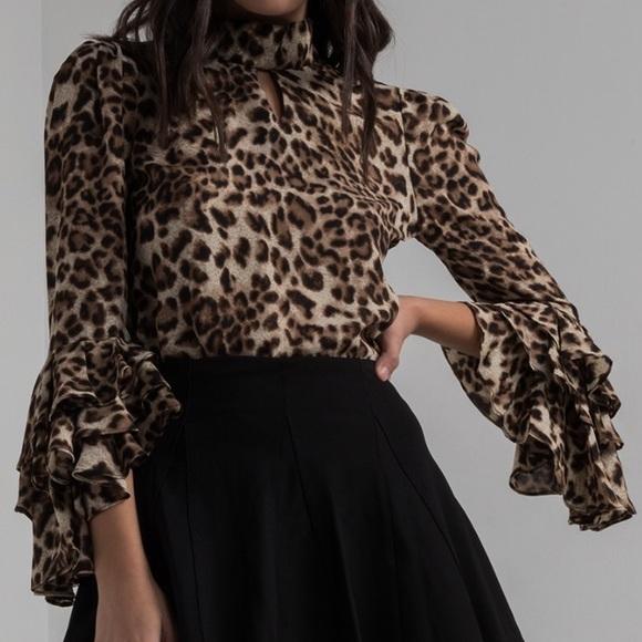 21ee5f3078fef Gracia Tops - ✨ Gracia Leopard Print Ruffle Sleeve Blouse ✨